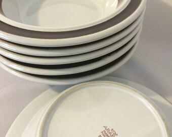 Arabia Rosmarin Anemone Soup or Cereal Bowls Brown Mid Century Modern Vintage