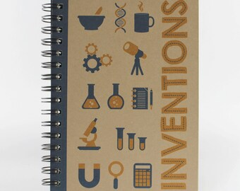 "Small Spiral Notebook ""Inventions"""