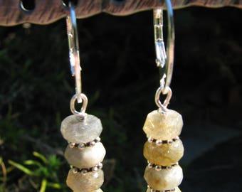 Labradorite, sterling silver earrings