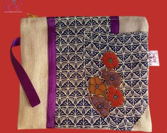 Made of burlap and lined batik COLLECTION MMBATIK POUCH