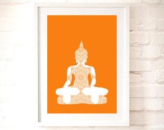 Buddha Art Print - Yoga art, buddha, buddha, yoga design, yoga prints, Meditation Art, Buddha Wall Art, Buddha art