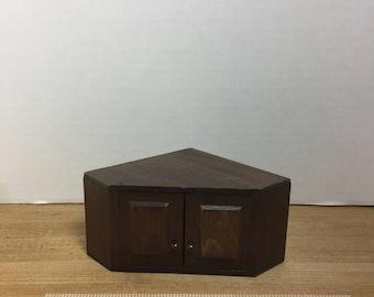 Dollhouse furniture vintage Dan-Dy crafts corner kitchen cabinet
