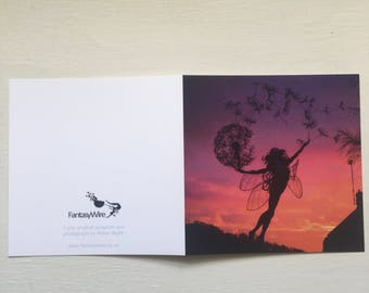 Luna, Fairy greetings card by FantasyWire