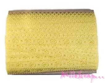 1 m light yellow lace embellishment scrapbooking card making *.