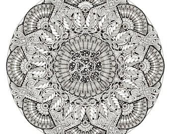 """Mandala art print """"Textiles"""""""