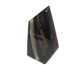 Mahogany Obsidian Jet Black Maroon Natural Volcanic Semiprecious Gemstone Cabochon Semi Precious US Gem DIY Craft Stone Jewel