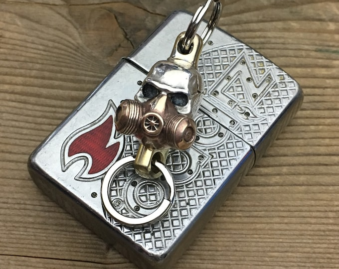 Skull-Mask Swivel Brass Connector /  for keychain,  walletchain ....