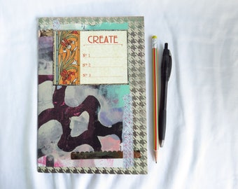 Altered Ikea #4 - Altered journal - sketchbook, create, creative journal, art journal, mixed media, squiggly lines, unlined white pages