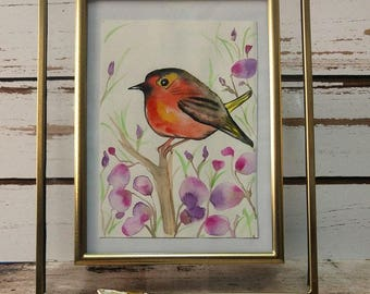 watercolor bird - original painting