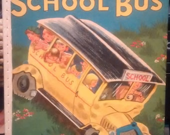 Vintage Bingity-Bangity School Bus #550 Wonder Books 1950