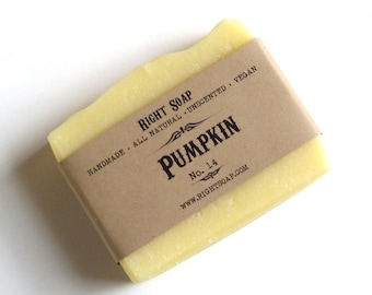 Natural Soap bar Homemade Soap Vegan Body Soap Sensitive Skin Soap Unscented Pumpkin Soap Facial Soap Women Stocking Stuffer
