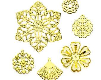 Gold Tone Filigrees