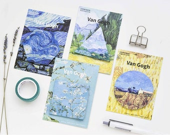 Van Gogh painting sticky notes,Message Sticky Notes,Sticky Memo pads,Note pads