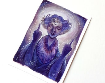 Troubled Times - Limited Edition ACEO Giclée Fine Art Print