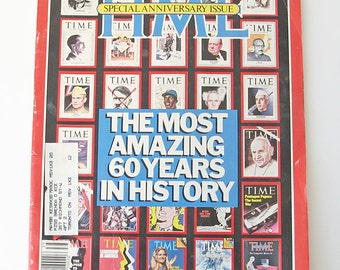 Time magazine October 5, 1983, Special Anniversary Issue, The Most Amazing 60 Years of History, 1983 publication, Canadian Time magazine