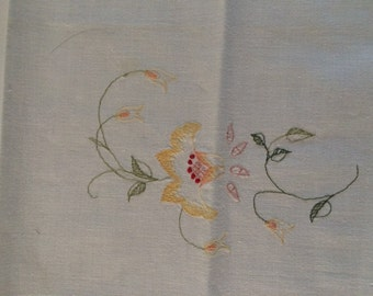 Guest Hand Towel - Machine Embroidered Design