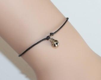 Jingle Bell Bracelet In Silver, BFF Gift, Friendship Gift, Christmas, Holiday Bracelet, Christmas Jewelry, Best Friend, Minimalist Jewelry