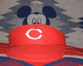 Vintage 1980's Cincinnati Reds MLB Visor!!! Cincy Baseball Hat!!!