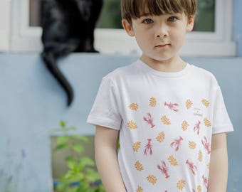 Kids organic cotton crab T-shirt