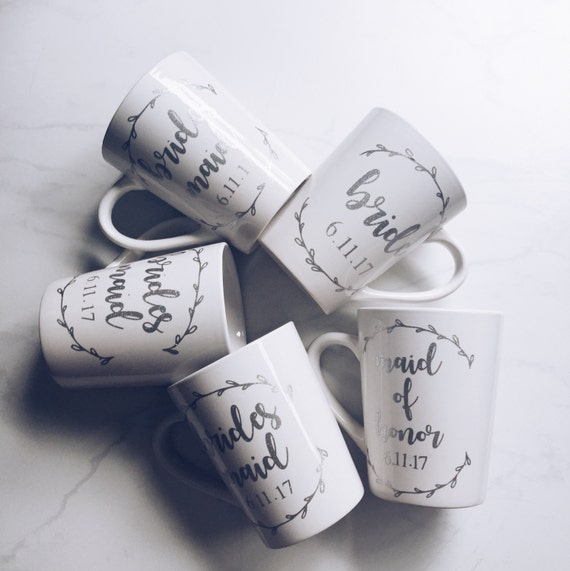 Maid of Honor mug // MOH Mug // Maid of Honor Coffee Cup // bridesmaid mug //