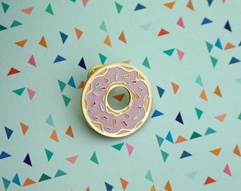 Donut Worry Enamel Pin