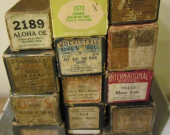 Player Piano Rolls in working condition Scrapbook Journal Paper