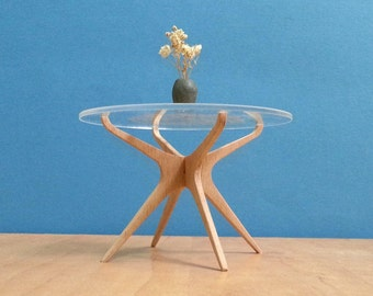 Sculptured DINING TABLE 1:6 Scale,Collectible Miniature Furniture,Modern Style Design,Replica, Vintage