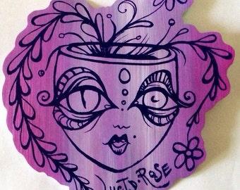 Lucid Rose Pot Head sticker