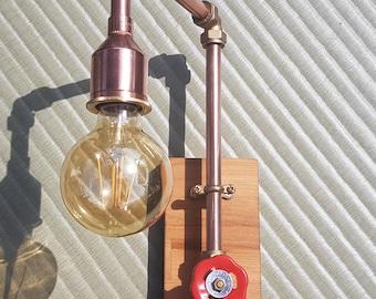 Copper pipe Wall light