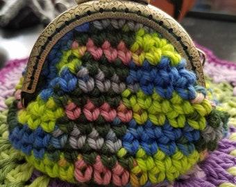 Cotton crochet coin purse wallet  great gift idea