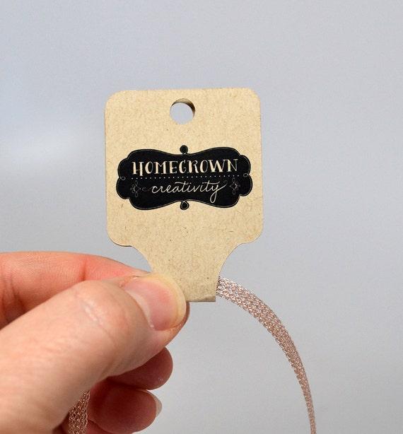 Wonderful Custom Fold Over Necklace Jewelry Tags Jewelry Display  TR66