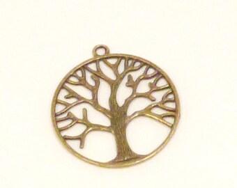 2 filigree print pattern tree charms