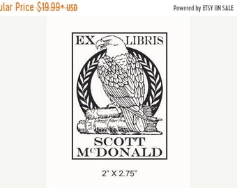 Mothers Day Sale Eagle  Ex Libris Bookplate Rubber Stamp F24