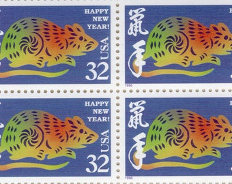 Happy New Year - Year of the Rat - 1992 - Full Sheet (20) - US Postage Stamps  - Mint - Unused - Scott 3060
