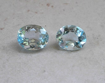 Blue Topaz Solitaires Oval Cut November Birthstone For Jewelry Making Metaphysical Healing Stones