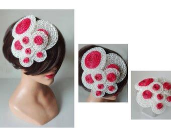 small hat bride wedding, pink wedding fascinator hat, comb hair comb Hütchen