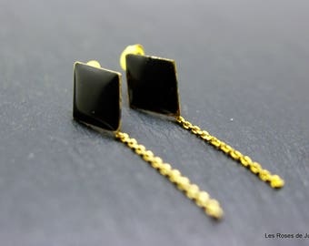 Earrings graphic, earrings, gold filled