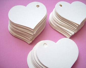 Heart Tags, Wedding Favors, Set of 50, Valentine Tag, Price Tag, Favor