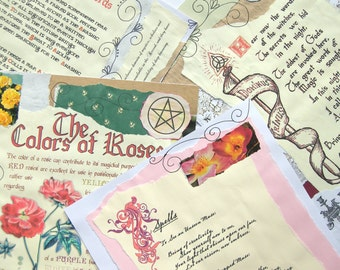 Spell Pages for your Book of Shadows (Digital Download) - REF 13