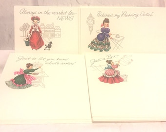 Current Post a Notes Vintage Ladies Greeting Cards Postcards Set of 31