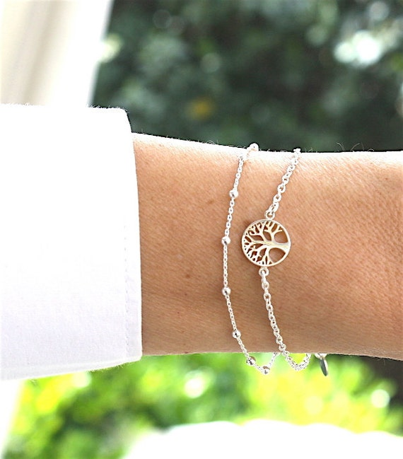 tree of life bracelet for women 925 sterling silver