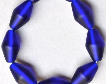 Czech Glass Bicone Beads - Various Matte Colors Available - 17mm x 10mm - Qty 15 or 50