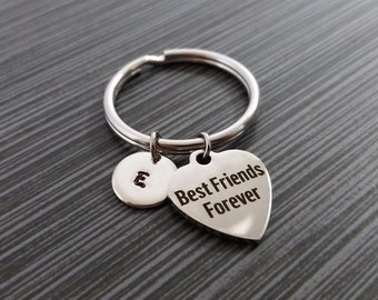 Best Friends Forever Keychain - Gift for Bestie - Custom Gift - Best Friend Gift - Best Friends Key Chain - Custom Keychain Personalized