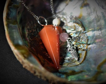 Carnelian and Fertility Goddess Pendulum