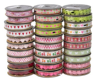 Self adhesive ribbons in assorted colours, Every day crafting stick on ribbons, Beautiful sticky ribbons for card making and scrapbooking