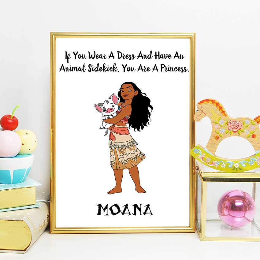 Pua Moana Quote Print The Pig Movie Wall Art