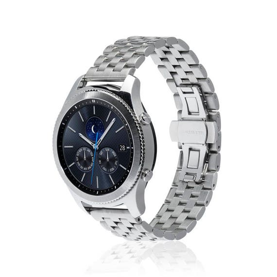 Watch Band LINK for Samsung Gear S3 Classic/Gear S3 Frontier more colors available - stainless steel and leather