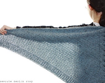 CROCHET PATTERN - Shelter Triangle Shawl - Instant Download (PDF)
