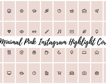 49 Minimal Pink Instagram Covers for Bloggers, Influencers, and Creatives
