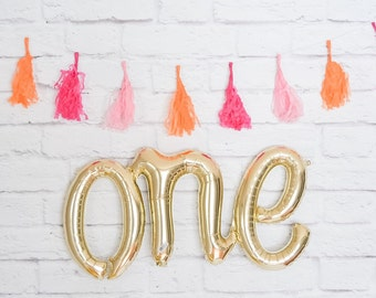 ONE foil Balloon, First Birthday